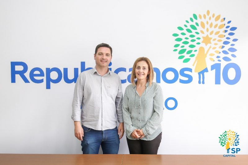 Prefeito Thiago Michelin e a Coordenadora Regional Érica Alves
